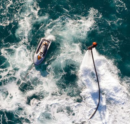 Enjoy Flybroard & live the summer fun of Water Sports in Mykonos