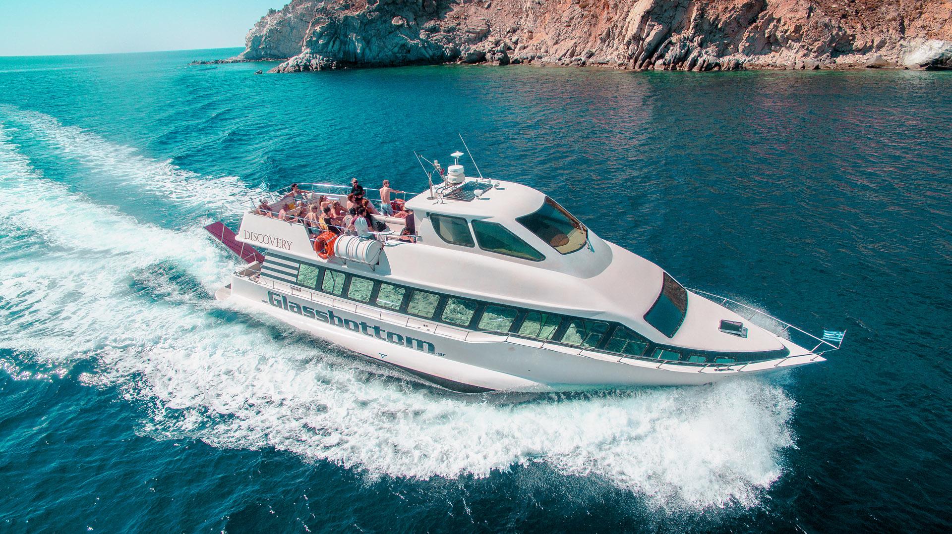 Mykonos Beach to Beach Cruise - Discovery Glassbottom Yacht