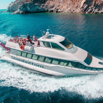Mykonos Beach to Beach Cruise with the Discovery Glassbottom